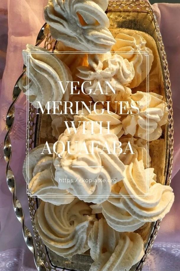 Collage vegan meringues with aquafaba image