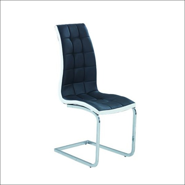 trpezarijska stolica dc37 nordic crno bela