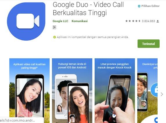 Google Duo - Video Call Berkualitas Tinggi