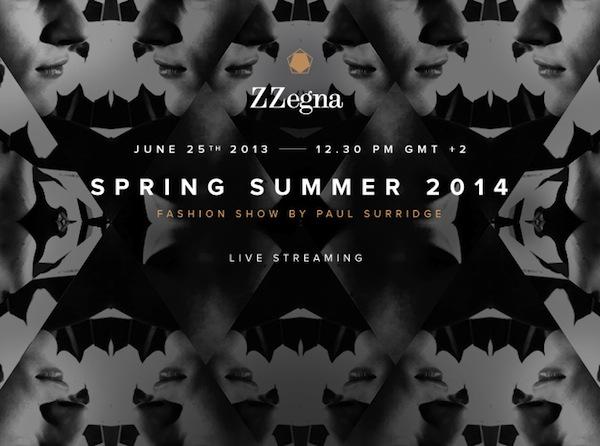 Z Zegna Spring Summer 2014 Fashion Show Livestram