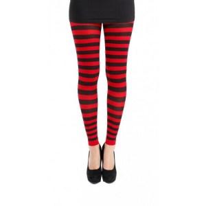 Legging Rayures Rouge et Noir