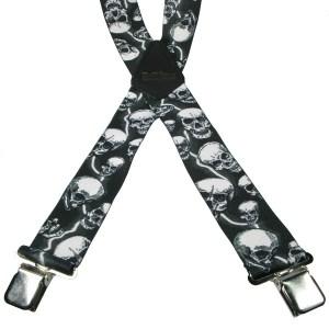 Bretelles avec Crânes Imprimés