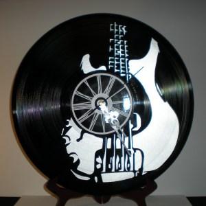 Horloge Basse Vinyles Création Originale