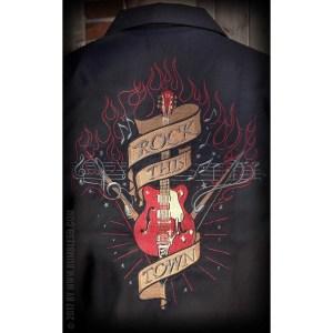 chemise noire rumble59 rockabilly, psychobilly, rockwear