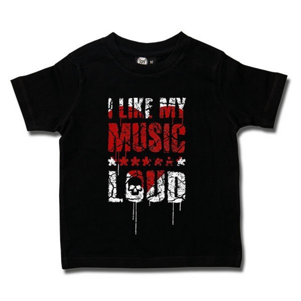 t-shirt enfant i like my music loud