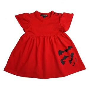 Robe Enfants Bats Rouge