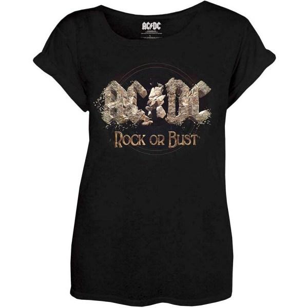 t-shirt ac dc rock or bust