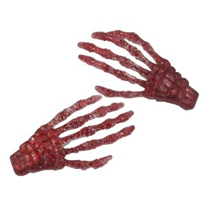 barrettes main de squelette