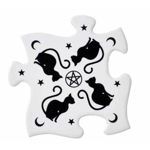 Puzzle Black Cat Dessous de verres