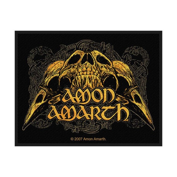 Patch Amon Amarth Raven Skull