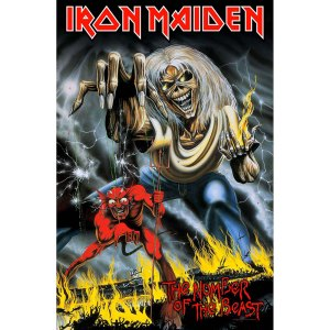 Drapeau Iron Maiden Number of the Beast