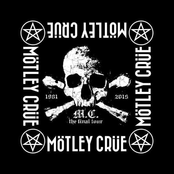 Bandana Mötley Crüe The Final Tour