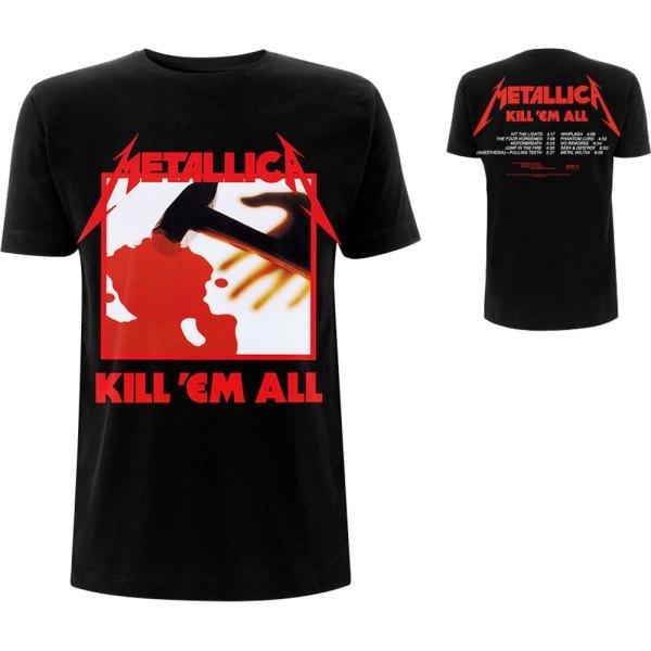 T-shirt Metallica Design Kill Em All Tracks