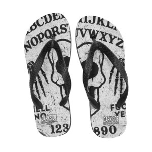 Tongs Blanches Imprimées Ouija Board Ghoul