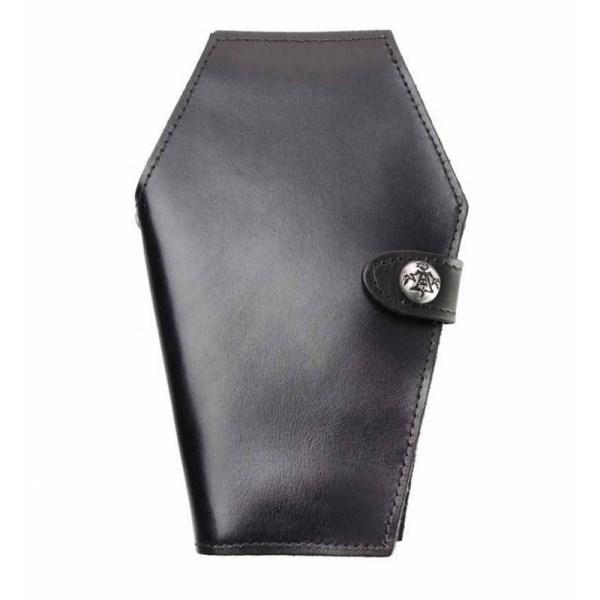 portefeuille cercueil en cuir