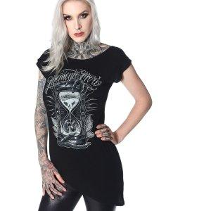 T-shirt Memento Mori Design Hyraw Noir