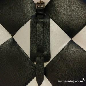 Bracelet Enfant Cuir Noir