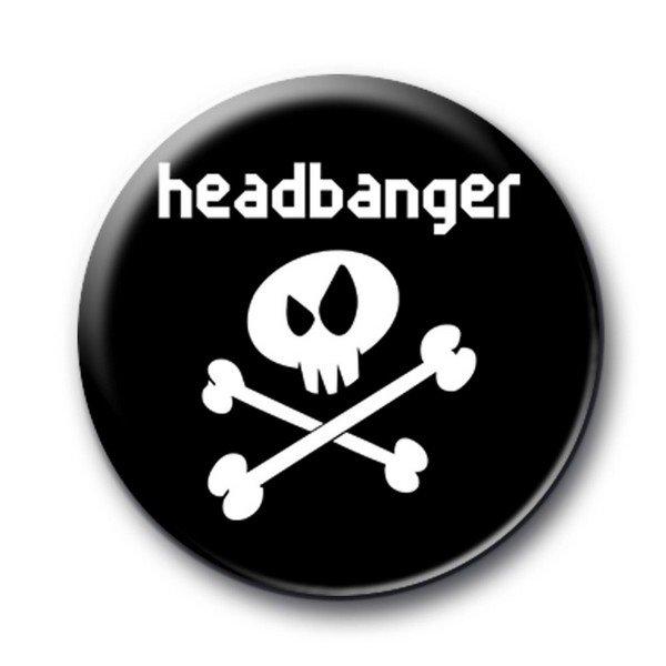 Badge Headbanger Noir sous licence