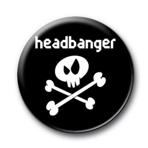 Badge Headbanger Noir sous licence