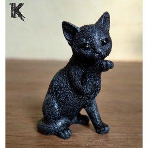 Chat noir porte-bonheur le gourmand