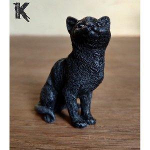 Chat noir porte-bonheur le réveur