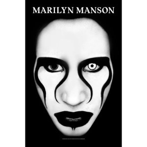Drapeau Marilyn Manson Defiant Face