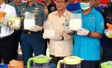 Permalink to BNNP dan Lanal Palembang Musnahkan 79Kg Sabu