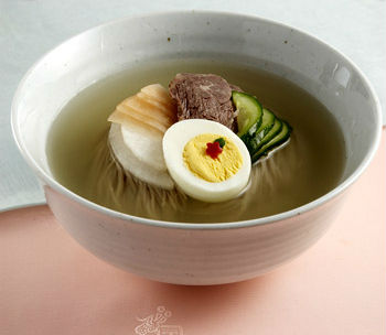 Naengmyeon (photo courtesy of the Institute of Traditional Korean Food).
