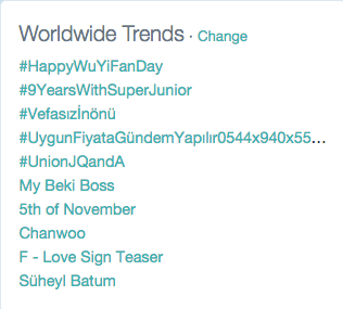#9YearsWithSuperJunior trending worldwide