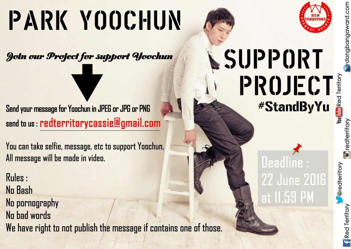 Image: Park Yoochun Support Project by International fans