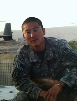 Sgt. Lim on duty in Afghanistan.
