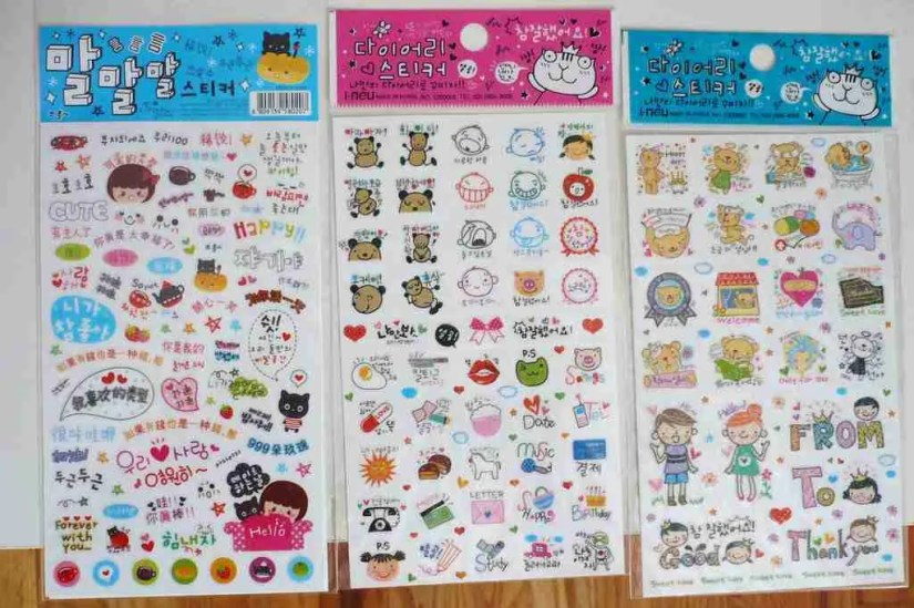 Things to buy in Korea. Korean souvenirs: Korean stickers