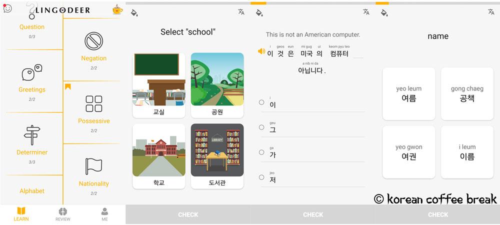 meilleures applications gratuites pour apprendre le coréen : Lingodeer