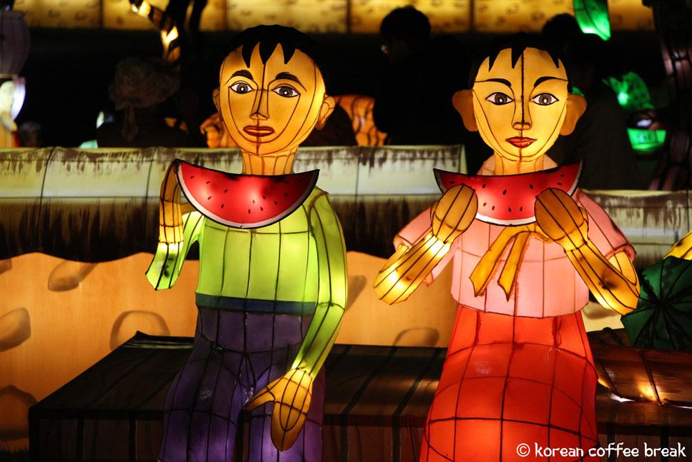 Festivals d'automne : Festival des Lanternes Yudeung Namgang à Jinju (진주 남강유등축제)