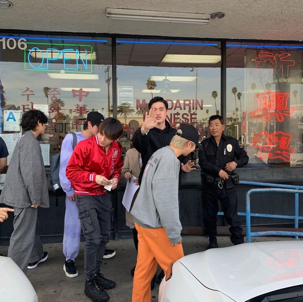 BTS hanging out in Koreatown LA