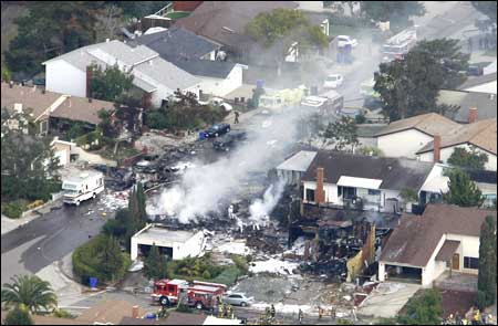 Marine Corp Jet Smashes Into House In San Diego,Killing 4 Occupants