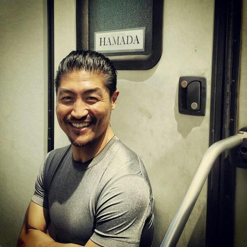 Actor Brian Tee on the set of Jurassic World, which was filmed in Hawaii, Kauai and Oahu. (Twitter)
