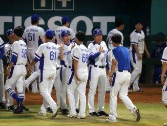 Korea won against Hong Kong in baseball but still pressured for three-peat
