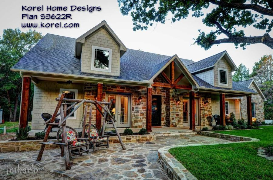 Home   Texas House Plans   Over 700 Proven Home Designs Online by     Country House Plan S3622R