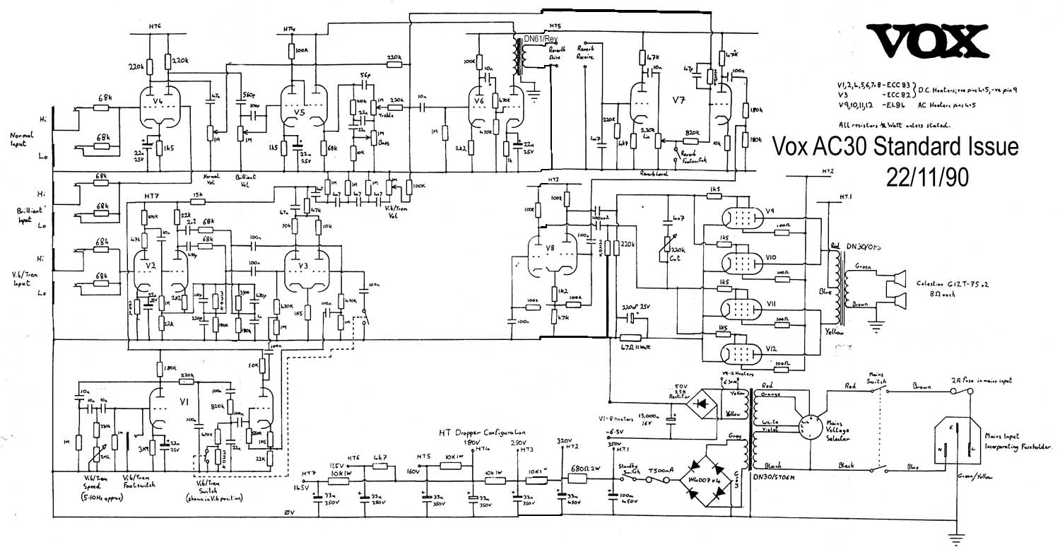 Vox Circuit Diagrams Images