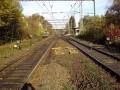 Pohled od výhybky č.1 do stanice