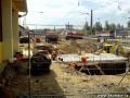 pohled na obnažený podchod od 1.nástupiště...