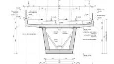 Příčný profil horní části estakády |zdroj: SUDOP |