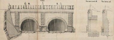 Návrh architektonického ztvárnění společného severního portálu II. a III.tunelu (1940)