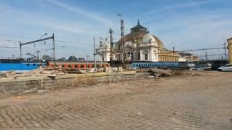 Plzeň Hlavní nádraží - demolice nepotřebných budov
