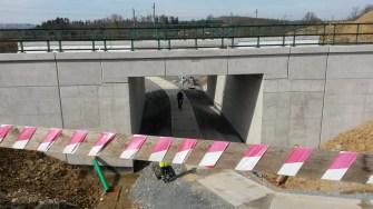 Západní portál Ejpovického tunelu - přemostění cyklostezky/cesty pro pěší spojující Sv. Jiří (vznik Berounky) a Plzeň-Újezd