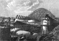 Stanice St Pancras ve výstavbě v roce 1868 | Zdroj: Illustrated London News, 15 February 1868, wikimedia