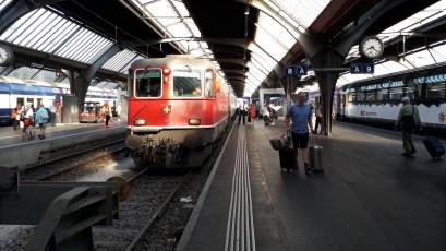 Zürich nádraží Příjezd do Zürichu, nádraží (Autor: Luboš Sládek, koridory.cz)