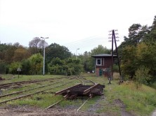 Revitalizace stanice Szydlów - stav na konci srpna 2018. Stavědlo Sdw 1 (zdroj: ostatniafabrykaparowozow.opolskie.art.pl).