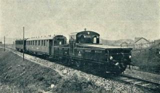 Pokusná jízda E 407.001 se dvěma čtyřosými vozy na trati Libeň - Nusle (Český svět 1926).